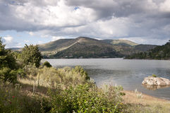 Views of the reservoir of El Burguillo Royalty Free Stock Photography