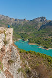 Views of Reservoir of El Castell de Guadalest. Stock Image