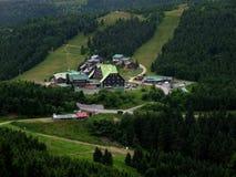 Views of the resort Červenohorské saddle Stock Photos