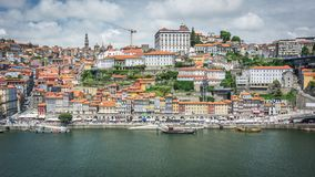 Views of the River Douro and buildings of Porto stock image