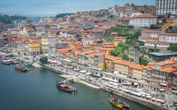 Views of the River Douro and buildings of Porto royalty free stock photo