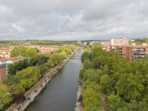 Views of the River Manzanares, Spain Stock Photography