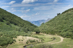 Views of the river Sousas, in Somiedo Nature Reserve Stock Photo