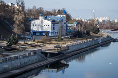 Views of the river Sozh Gomel (Belarus). Stock Photography