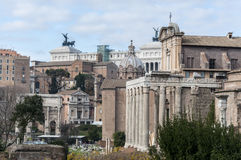 Views of Roman Forum Royalty Free Stock Photos