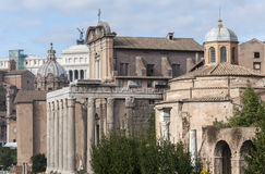 Views of Roman Forum Royalty Free Stock Image