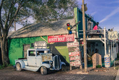 Views of the route 66 decorations in  Arizona, toning Royalty Free Stock Photos