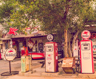 Views of the route 66 decorations in the little village  in Arizona, America spirit concept. Royalty Free Stock Image
