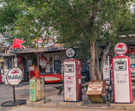 Views of the route 66 decorations in the little village in Arizona, toning, Royalty Free Stock Photography