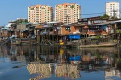 Views of the Saigon's Slums and new houses Stock Photos