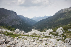 Views of Saliencia Valley. Somiedo Nature Reserve. It is located in the central area of the Cantabrian Mountains in the Principality of Asturias in northern Stock Photos
