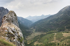 Views of Saliencia Valley. Somiedo Nature Reserve. It is located in the central area of the Cantabrian Mountains in the Principality of Asturias in northern Royalty Free Stock Image