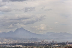 Views of San Juan and the mountains of Alicante in Spain. Stock Photos