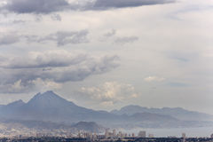 Views of San Juan and the mountains of Alicante in Spain. Stock Photo