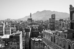 Views of Sanaa, Yemen. Sanaa is the capital of Yemen. The old city of Sanaa has a distinctive visual character due its unique architectural characteristics Stock Photography