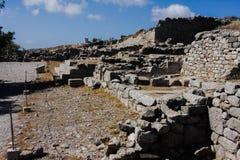 Ancient Thira Santorini Royalty Free Stock Image