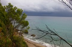 Views of the sea from the cliff royalty free stock photography