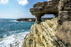 Views of the sea and cliffs of Cape Greco . Cyprus. Stock Photo