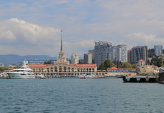 Views of the sea port of Sochi Stock Photos