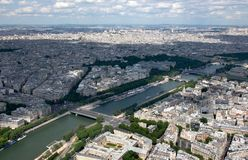 Views of the Seine stock photography