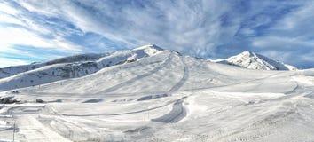 Views of the ski slopes Royalty Free Stock Image