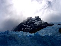 Views of snow peaks and glaciers of Andes mountains, Patagonia, Argentina royalty free stock photo