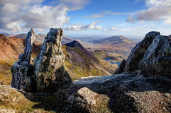 Views from Snowdon Royalty Free Stock Photos