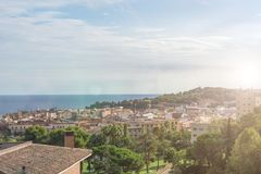 Views of the Spanish resort town of Lloret de Mar, Costa Brava, Catalonia, Spain.  Stock Photography
