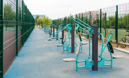 Views of the sports ground for street workout Royalty Free Stock Image
