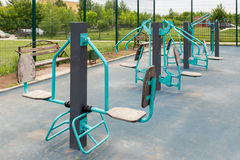 Views of the sports ground for street workout Stock Image