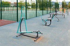 Views of the sports ground for street workout Royalty Free Stock Photo