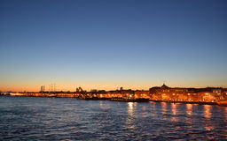 Views of the St.Petersburg after sunset Stock Photos