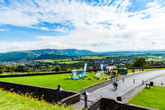 Views of Stirling and monuments to Robert the Bruce and William Royalty Free Stock Image