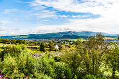 Views of Stirling and monuments to Robert the Bruce and William Royalty Free Stock Photo