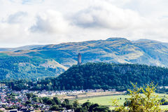 Views of Stirling and monuments to Robert the Bruce and William Stock Photos