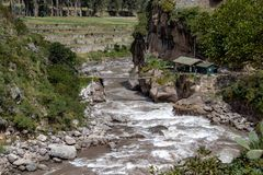 Views of the Streams Near Machu Picchu. Views of the mountain streams from the train bound for Machu Picchu, Peru royalty free stock images