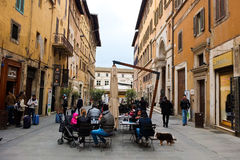 Views of the streets of the beautiful city of Perugia Stock Image