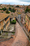 Views of the streets of the beautiful city of Perugia Stock Photos