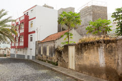 Views of streets in the city of Ribeira Brava Stock Photography