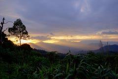 Views during sunset from Phanoen Thung Camp,Kaeng Krachan National Park,Phetchaburi Province,Thailand. Stock Photo