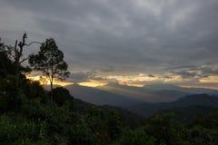 Views during sunset from Phanoen Thung Camp,Kaeng Krachan National Park,Phetchaburi Province,Thailand. Stock Images