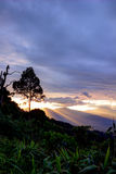 Views during sunset from Phanoen Thung Camp,Kaeng Krachan National Park,Phetchaburi Province,Thailand. Stock Image