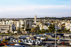Views of the surrounding area and the port of La Gullet in Tunis Stock Image
