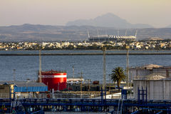 Views of the surrounding area and the port of La Gullet in Tunis Royalty Free Stock Photo