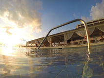 Views Of A Swimming Pool Royalty Free Stock Image
