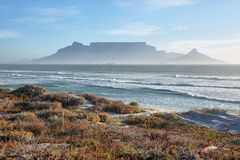 Views of Table Mountain at dawn Stock Photo