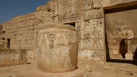 Views of the temple at Medinat Habu Luxor stock video footage
