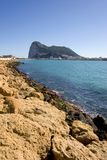 Views to Gibraltar from La Linea in Spain Royalty Free Stock Photo