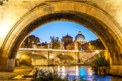 Views to st peter basilica in rome, italy. Historical st peter basilica in rome, italy Royalty Free Stock Photos