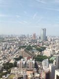 Views of Tokyo from the observation deck Royalty Free Stock Photo
